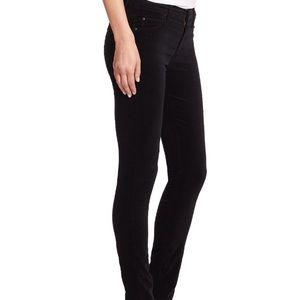 MOTHER The Charmer Black Velvet Skinny Jeans 28